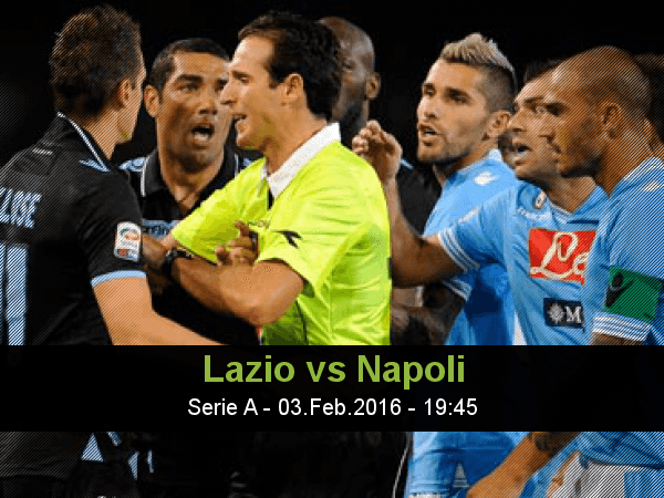 Lazio and napoli face at stadio olimpico, in a match for the 23th round of the serie a in the last league