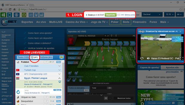 Como ver jogos online em direto na 1xbet livestream