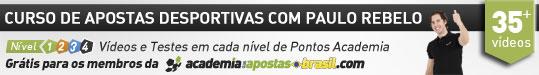 Aluas em vídeos do curso de apostas esportivas com Paulo Rebelo