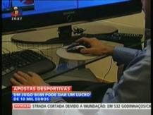 Paulo Rebelo em reportagem no Jornal Nacional da TVI