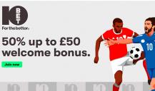 10Bet - Get a £50 Welcome Bonus (T&C apply)