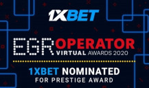 1xBet nominated for EGR Operator Awards
