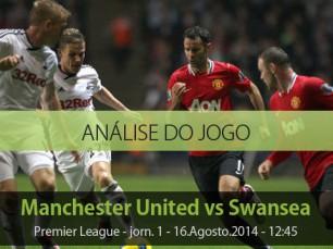 Análise do jogo: Manchester United vs Swansea (16 Agosto 2014)