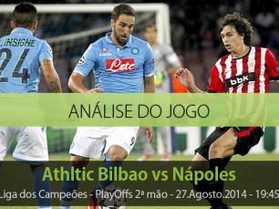 Análise do jogo: Athletic Bilbao vs Nápoles (27 Agosto 2014)