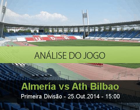 Análise do jogo: Almería vs Atlético de Bilbao (25 Outubro 2014)