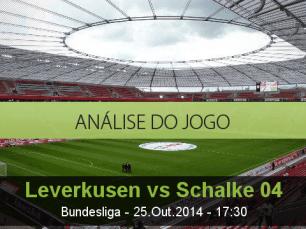 Análise do jogo: Bayer Leverkusen vs Schalke 04 (25 Outubro 2014)