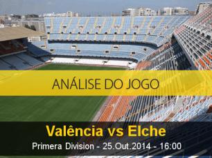 Análise do jogo: Valência X Elche (25 Outubro 2014)