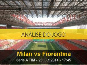 Análise do jogo: Milan X Fiorentina (26 Outubro 2014)