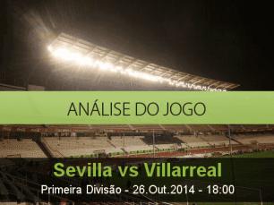 Análise do jogo: Sevilla vs Villarreal (26 Outubro 2014)