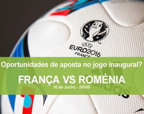 Oportunidades para apostar no jogo inaugural do Euro 2016