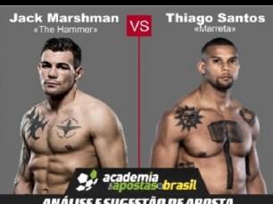 Jack Marshman vs Thiago Santos (UFC – 19 de Fevereiro de 2017)