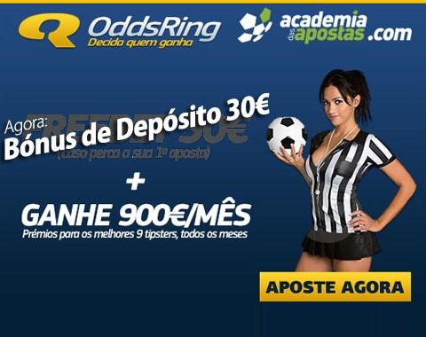 OddsRing com freebet boas vindas de 30€