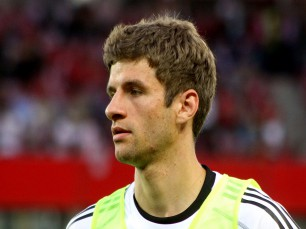 Thomas Müller para marcar no França vs Alemanha