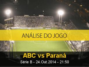 Análise do jogo: ABC X Paraná (24 Outubro 2014)