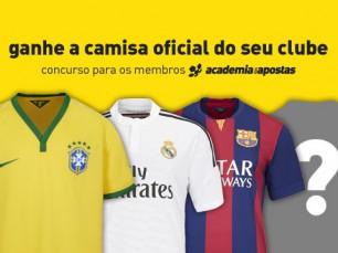 Ganhe a camisa oficial do seu clube