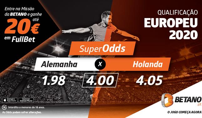 As melhores odds do Alemanha Holanda