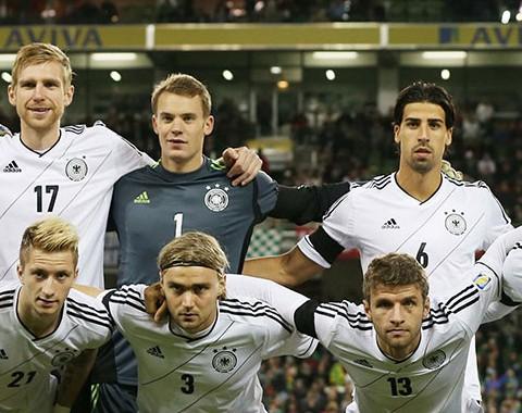 A Alemanha de Mesut Ozil, Thomas Muller e Bastian Schweinsteiger