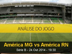 Análise do jogo: América Mineiro X América de Natal  (24 Outubro 2014)