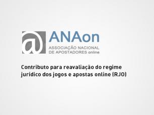 ANAon pede revisão do Regime Jurídico de Apostas Online