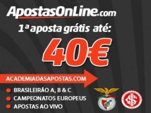 ApostasOnline - Bónus de 100% até 40€