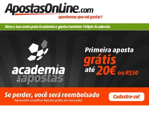 ApostasOnline - Bónus de 100% até 20€