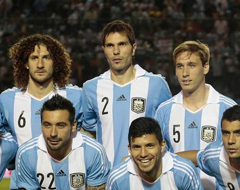 A Argentina de Lionel Messi, Ángel Di Maria e Sergio Aguero para o Mundial 2014