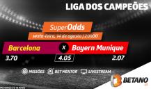 Aposta no Barcelona-Bayern com as melhores odds