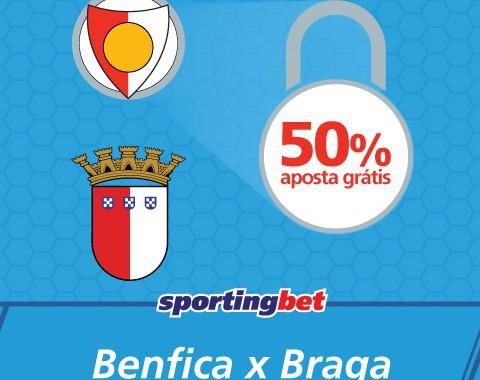 Benfica vs Braga: águias não sofrem e tu ganhas 50% extra
