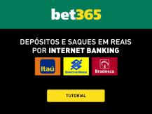 Bet365 aceita depósitos por internet banking para Brasileiros