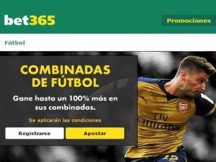 Bet365 Bonus combinadas de fútbol en las mejores ligas de Europa