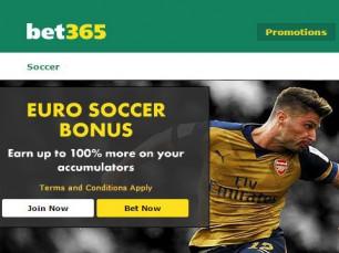 Bet365 Euro Soccer Bonus (multiple bets)