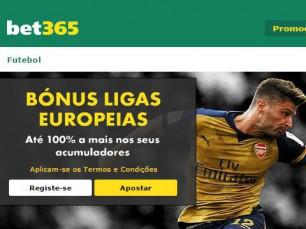 Bet365 Bónus Ligas Europeias (apostas múltiplas)