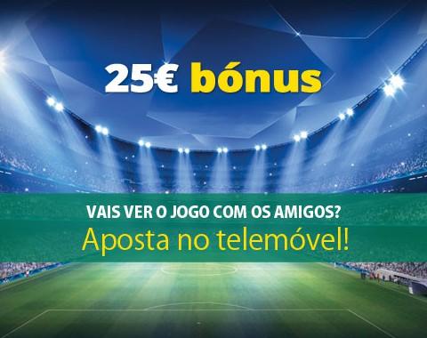 Liga dos Campeões: aposta no telemóvel e recebe um bónus