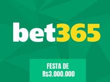 Festa dos R$3.000.000 na Bet365