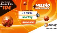 Ganha 10€ na Missão Porto vs Sporting