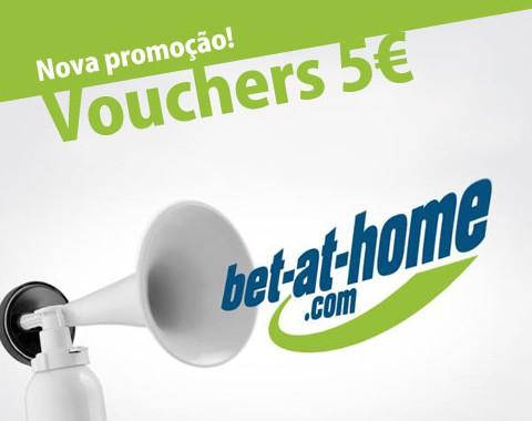 Voucher 5€ bet-at-home - aposta sem depositar - exclusivo Academia