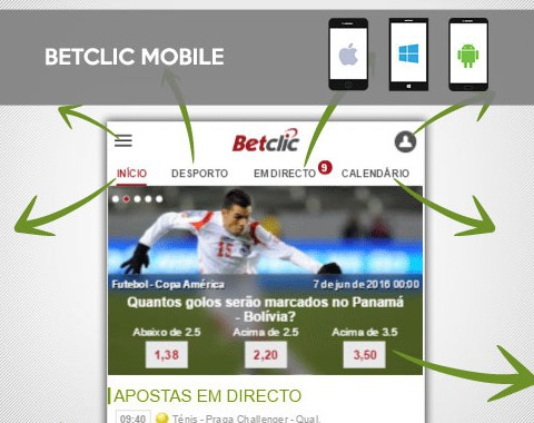 Betclic no Android e iPhone