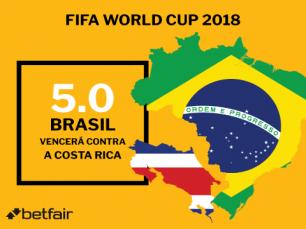 Brasil sai vencedor contra Costa Rica