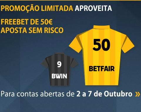 Oferta limitada: bónus de boas vindas Betfair de 50€