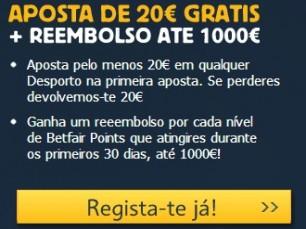 BetFair - Bónus 35€ e Reembolso até 1000€ ( Como apostar na Betfair )