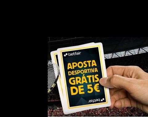 Aposta grátis de 5€ na Betfair - até 30.Dez.2012