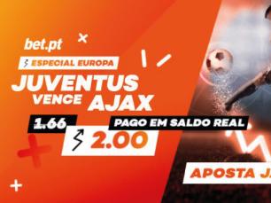 Juventus odd: aumentada na Liga dos Campeões contra Ajax