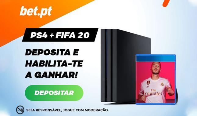 Deposita para ganhar uma PS4+FiFA 20