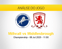 Prognóstico Millwall Middlesbrough (08 julho 2020)