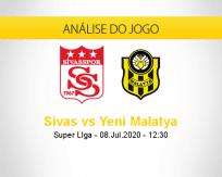 Prognóstico Sivasspor Yeni Malatyaspor (08 julho 2020)