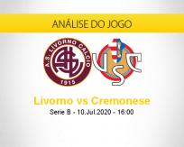 Prognóstico Livorno Cremonese (10 julho 2020)