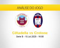 Prognóstico Cittadella Crotone (10 julho 2020)