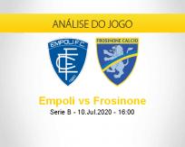 Prognóstico Empoli Frosinone (10 julho 2020)