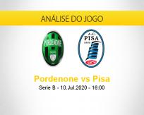 Prognóstico Pordenone Pisa (10 julho 2020)