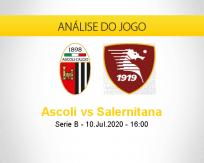 Prognóstico Ascoli Salernitana (10 julho 2020)